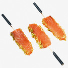 Fingerfood - Lachs, Wasabi, Honig-Crunch
