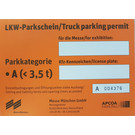 Trucks / Trailers /Vans (Heigth > 2m) Long-term parking permit, category up to 3,5 t (or trailer)